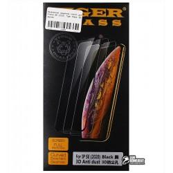 Закаленное защитное стекло для iPhone SE (2020), Tiger Glass, 3D, черное