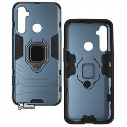 Чехол для Realme 5, Armor Case, с кольцом держателем, синий