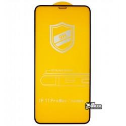 Закаленное защитное стекло для iPhone Xs Max, iPhone 11 Pro, 3D, 4D ARC, черное