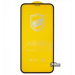 Закаленное защитное стекло для iPhone Xr, iPhone 11, 3D, 4D ARC, черное