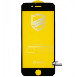 Закаленное защитное стекло для iPhone 6, iPhone 6s, 0,26 мм 9H, 4D ARC, черное