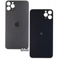 Задняя панель корпуса для iPhone 11ProMax, серая, не нужно снимать стекло камеры, big hole