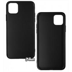 Чехол для Apple iPhone 11 Pro Max, Joy (Black matt), матовый силикон, черный