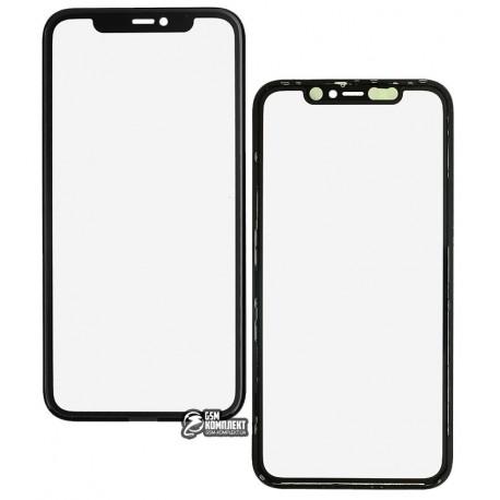 Стекло дисплея iPhone 11, с рамкой, с OCA-пленкой, черное