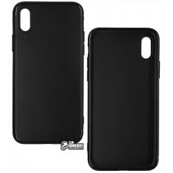 Чехол для IPhone X / iPhone Xs, Joy, силиконовый, матовый, черный