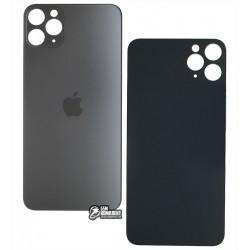 Задняя панель корпуса для iPhone 11 Pro Max, тёмно-серая, нужно снимать стекло камеры