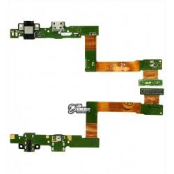 Шлейф для Samsung T550, T555 на системный разъем, разъем гарнитуры
