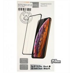 Закаленное защитное стекло для iPhone 7 Plus, iPhone 8 Plus, Tiger Glass, 3D, черное