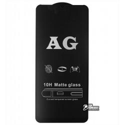 Закаленное защитное стекло для Realme C3, 0,26 мм 9H, 2.5D, Full Glue, матовое, черное