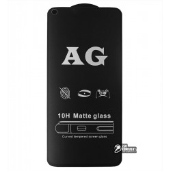 Закаленное защитное стекло для Huawei P40 Lite (2020), 2.5D, Full Glue, матовое, черное