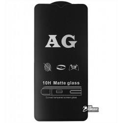 Закаленное защитное стекло для Huawei P Smart S, Y8P, 2.5D, Full Glue, матовое, черное
