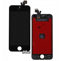 Дисплей для iPhone 5, черный, с сенсорным экраном (дисплейный модуль), с рамкой, AAA, Tianma+