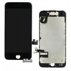 Дисплей iPhone 7, черный, с сенсорным экраном, с рамкой, AAA, Tianma, с шлейфом кнопки HOME, с камерой, с динамиком