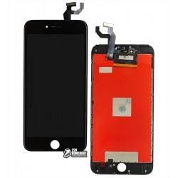 Дисплей iPhone 6S Plus, черный, с сенсорным экраном, с рамкой, AAA, Tianma, с пластиками камеры и датчика приближения
