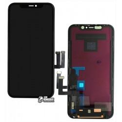 Дисплей для iPhone 11, черный, с сенсорным экраном, с рамкой, (TFT), AAA, Tianma