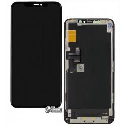 Дисплей для iPhone 11ProMax, черный, с сенсорным экраном, с рамкой, HC