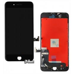 Дисплей iPhone 8 Plus, черный, с сенсорным экраном, с рамкой, AAA, Tianma, с пластиками камеры и датчика приближения