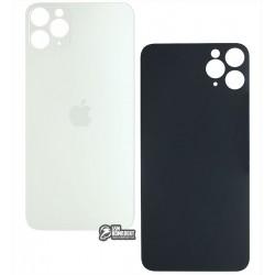 Задняя панель корпуса для iPhone 11ProMax, серебристая, не нужно снимать стекло камеры, small hole