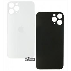 Задняя панель корпуса для iPhone 11Pro, серебристая, не нужно снимать стекло камеры, small hole