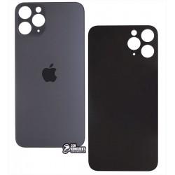 Задняя панель корпуса для iPhone 11 Pro, тёмно-серая, нужно снимать стекло камеры