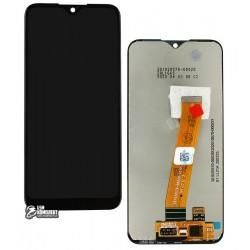 Дисплей для Samsung A015 Galaxy A01, черный, с сенсорным экраном, Original (PRC), original glass