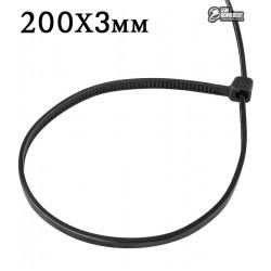 Стяжки кабельные 200 х 3 мм ProFix, 100шт