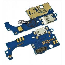 Шлейф для ZTE Blade A510 микрофона, коннектора зарядки, плата зарядки