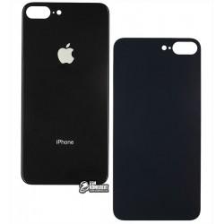 Задняя панель корпуса iPhone 8 Plus, черная, не нужно снимать стекло камеры, big hole
