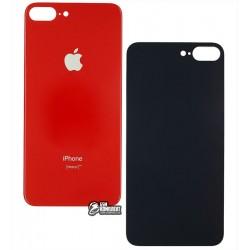 Задняя панель корпуса iPhone 8 Plus, красная, не нужно снимать стекло камеры, big hole
