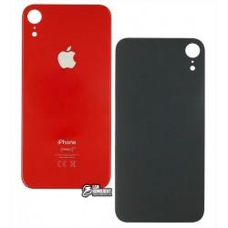 Задняя панель корпуса для iPhone XR, красная, не нужно снимать стекло камеры, big hole