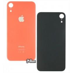 Задняя панель корпуса для iPhone XR, коралловая (оранжевая), не нужно снимать стекло камеры, big hole