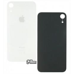 Задняя панель корпуса для iPhone XR, белая, не нужно снимать стекло камеры, big hole