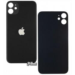 Задняя панель корпуса для iPhone 11, черная, не нужно снимать стекло камеры, big hole
