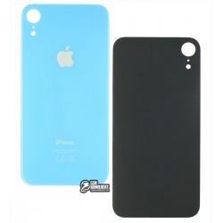 Задняя панель корпуса для iPhone XR, синяя, не нужно снимать стекло камеры, big hole
