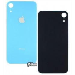 Задняя панель корпуса iPhone XR, голубая, не нужно снимать стекло камеры, big hole