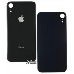 Задняя панель корпуса для iPhone XR, черная, не нужно снимать стекло камеры, big hole