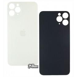 Задняя панель корпуса для iPhone 11Pro, серебристая, не нужно снимать стекло камеры, big hole