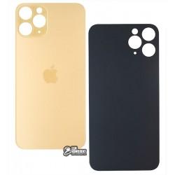 Задняя панель корпуса для iPhone 11Pro, золотистая, не нужно снимать стекло камеры, big hole