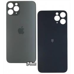 Задняя панель корпуса для iPhone 11Pro, серая, не нужно снимать стекло камеры, big hole