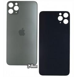 Задняя панель корпуса для iPhone 11ProMax, серая, не нужно снимать стекло камеры, small hole