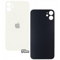 Задняя панель корпуса для iPhone 11, белая, не нужно снимать стекло камеры, big hole