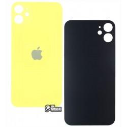 Задняя панель корпуса для iPhone 11, желтая, не нужно снимать стекло камеры, big hole