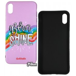 Чехол для Apple iPhone Xs Max, ArtStudio Case Grl Power, силиконовый, shine
