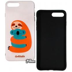 Чехол для Apple iPhone 7 Plus / 8 Plus, ArtStudio My Little Friends, силиконовый, ленивец