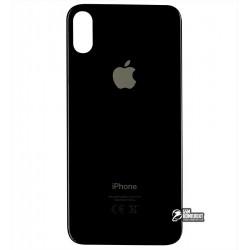 Задняя панель корпуса для iPhone XS, черная, не нужно снимать стекло камеры, big hole