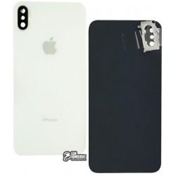 Задняя панель корпуса для iPhone XS Max, белая, со стеклом камеры