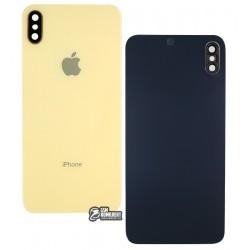 Задняя панель корпуса для iPhone XS Max, золотая, со стеклом камеры
