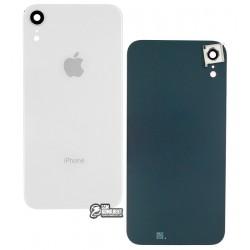 Задняя панель корпуса для iPhone XR, белая, со стеклом камеры
