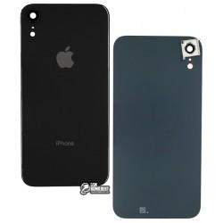 Задняя панель корпуса для iPhone XR, черная, со стеклом камеры