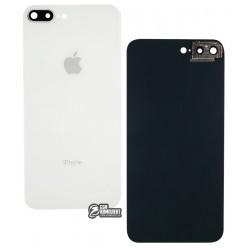 Задняя панель корпуса для iPhone 8 Plus, белая, со стеклом камеры